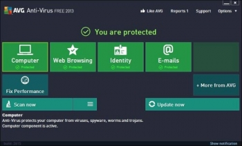 avg free anti virus 2013