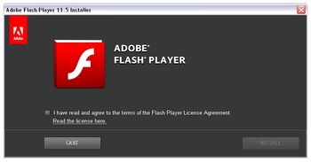 flash player standalone install ie