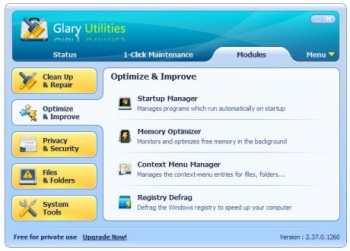 glary utilities system optimizer