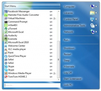 power8 start menu