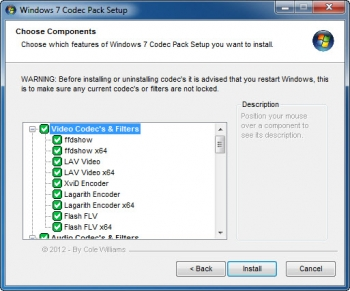 windows 7 codec pack 4 audio codecs