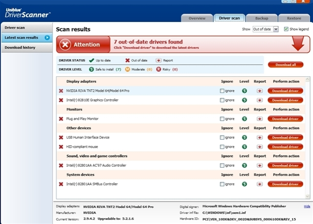 Uniblue driver scanner 2013 free download ~ softwares foreverr.